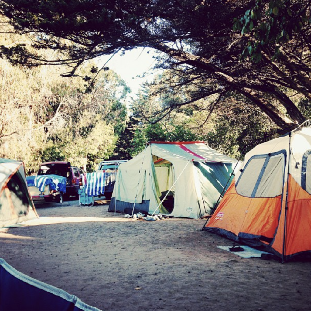 An overview of El Capitan State Beach camping in Goleta, California with campsite photos, tips and things to do while beach camping.