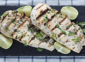 Grilled Cilantro Lime Chicken recipe | easy #campfood | scoutofmind.com