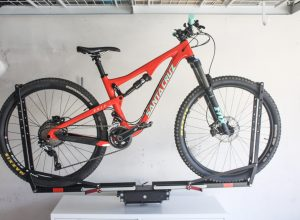 How to Properly Store Your Mountain Bike | An easy guide to storing your full suspension mountain bike using your existing bike rack on a wall mount hitch | scoutofmind.com