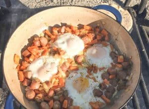 Easy, one-pan Sweet Potato Breakfast Hash Recipe | Easy #camping breakfast | scoutofmind.com
