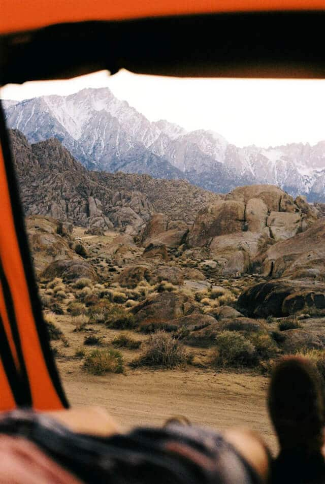 how to camp at Alabama Hills #scoutofmind